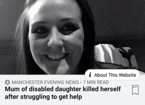 Screenshot of the online thumbnail of the original news piece. Features smiling black and white photo of the Mother