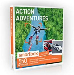 Experience Day gift that comes with a box full of booklets of the 550 active experiences to choose from with this gift card