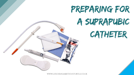 Suprapubic Catheter supplies laid out ready for the procedure